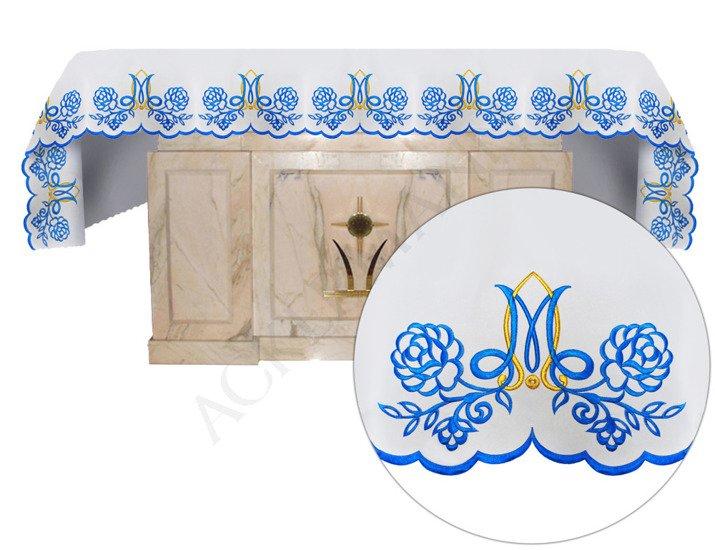 Altar cloth Marian blue roses