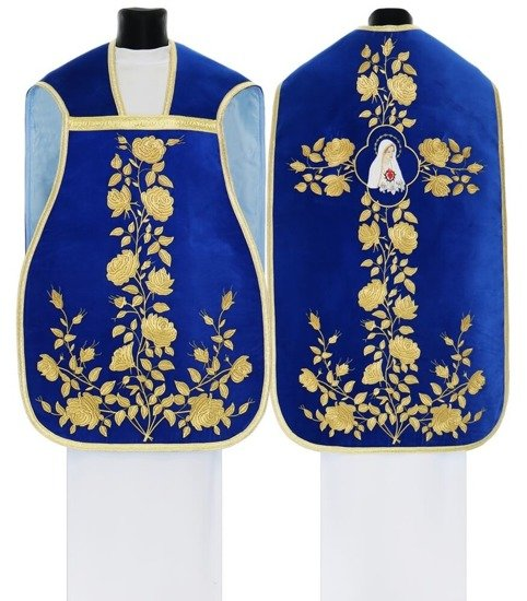 Blue Marian Roman Chasuble Our Lady