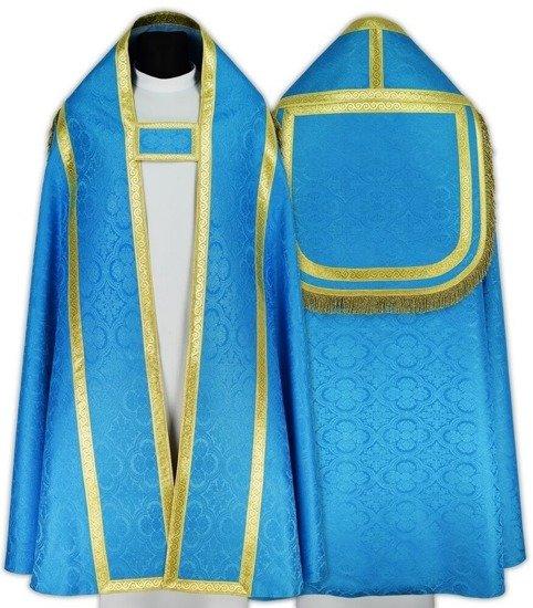 Blue Marian Roman Cope length 67 inch