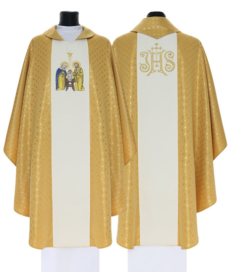 Gold Gothic Chasuble Christmas model 760