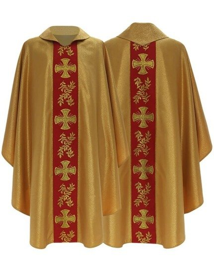 Gold Gothic Chasuble model 006