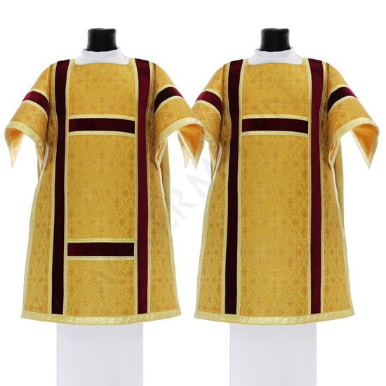 Gold Set of Roman Dalmatic and Tunicle