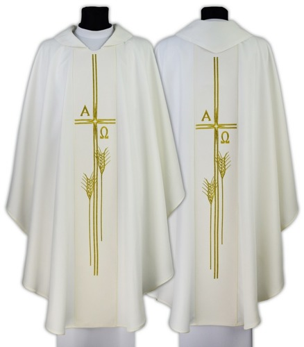 "Gothic Chasuble ""Alpha & Omega"" model 678"