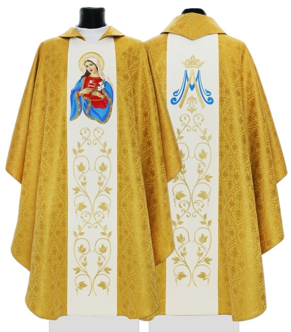 Gothic Chasuble Heart of Mary model 733