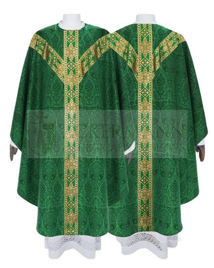 Green Semi Gothic Chasuble model 201
