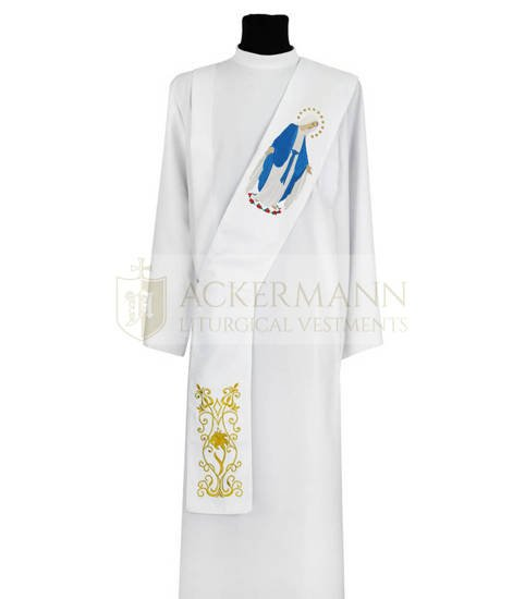 Marian Deacon Stole Our Lady of Grace