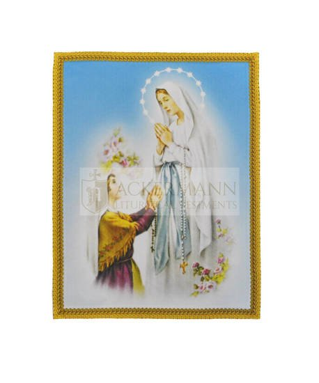 """Picture on the fabric """"Madonna di Lourdes"""""""
