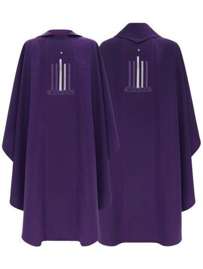 Purple Gothic Chasuble Advent model 783