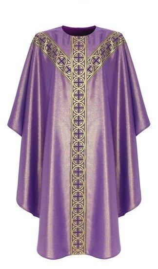 Purple Semi Gothic Chasuble model 071