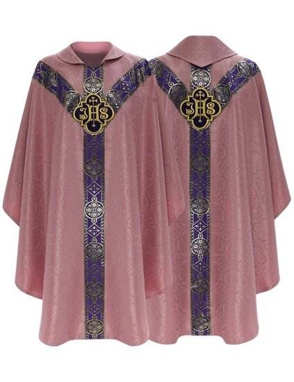 Rose Semi Gothic Chasuble model 209