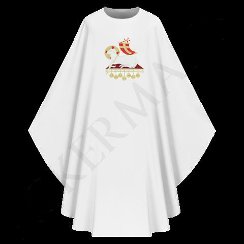 White Gothic Chasuble Lamb model 705