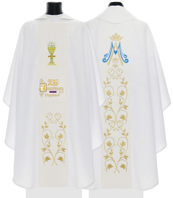 White Gothic Chasuble made of cotton734