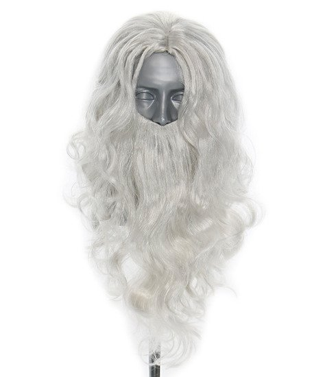 Wig with a beard of Santa Claus